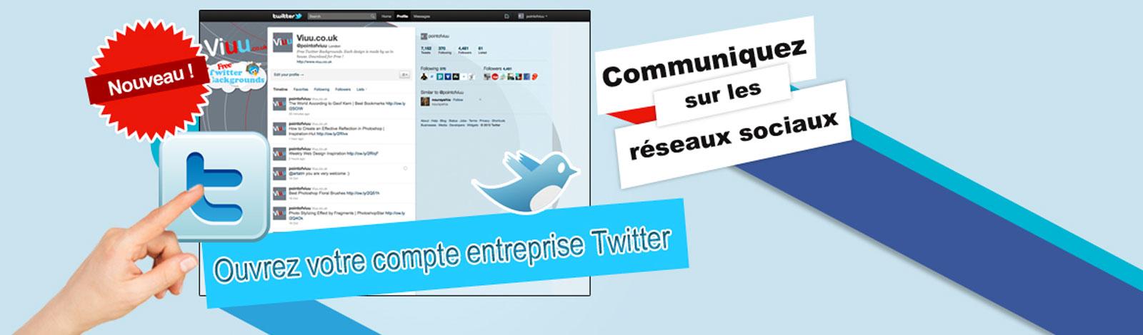 Créez un compte twitter entreprise